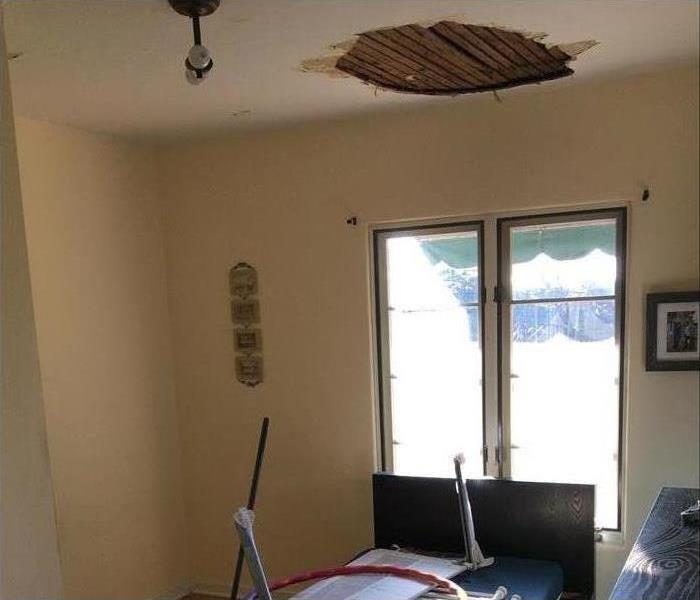 Water damage to Altadena Home Before